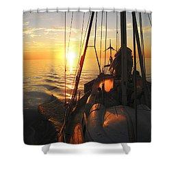 Sailing Shower Curtain by Anne Mott