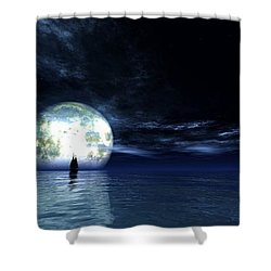 Sailing At Night... Shower Curtain