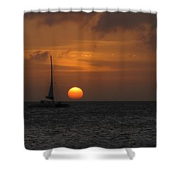 Shower Curtain featuring the photograph Sailing Away by David Gleeson