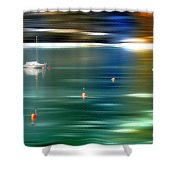 Sailing  Shower Curtain by Hannes Cmarits