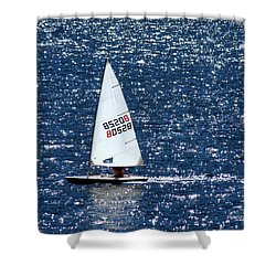 Shower Curtain featuring the photograph Sailing by Patrick Witz