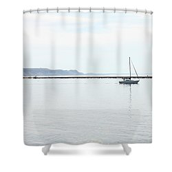 Sailing Shower Curtain by Sheryl Burns