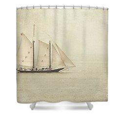 Sailing Ship Shower Curtain by Hannes Cmarits