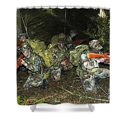 Sailors Take Part In Combat Training Shower Curtain by Stocktrek Images