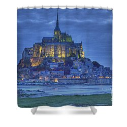 Saint Michaels Mount  Shower Curtain by Heiko Koehrer-Wagner