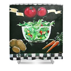 Salad Bowl Shower Curtain