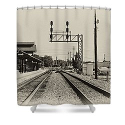 Salisbury North Carolina Depot Shower Curtain