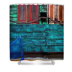 Salsa Shower Curtain by Skip Hunt