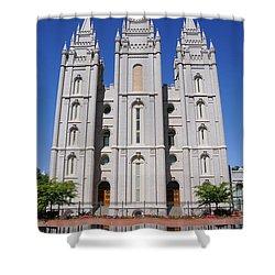 Salt Lake Mormon Temple Shower Curtain by Gary Whitton
