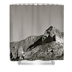 Salt River Black And White Shower Curtain