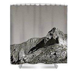 Salt River Black And White Shower Curtain