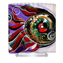Salvador Dali Octo Fish Shower Curtain