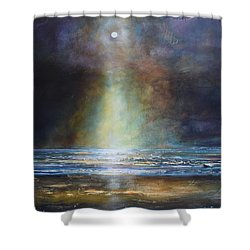 Salvation Beach Shower Curtain by Toni Grote