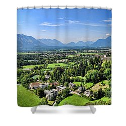 Salzburg IIi Austria Europe Shower Curtain by Sabine Jacobs