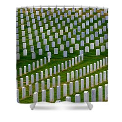San Diego Military Memorial 2 Shower Curtain by Bob Christopher