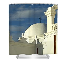 San Xavier Del Bac Mission Arizona Shower Curtain by Bob Christopher