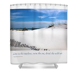 Sand Dunes Dream 3 Shower Curtain by Marie Hicks