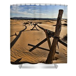 Sand Shower Curtain by Heather Applegate