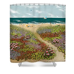 Sand Path Shower Curtain by Katherine Young-Beck