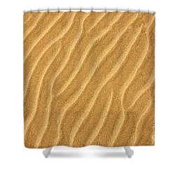 Sand Ripples Abstract Shower Curtain by Elena Elisseeva