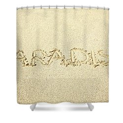 Sandy Paradise Shower Curtain by Kicka Witte
