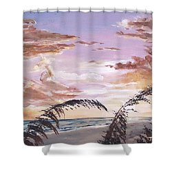 Sanibel Island Sunset Shower Curtain by Jack Skinner