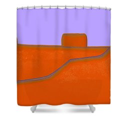 Santa Fe Shower Curtain by Linda  Parker