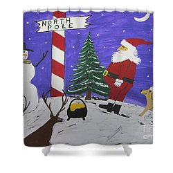 Santa Finds Pot Of Gold Shower Curtain by Jeffrey Koss