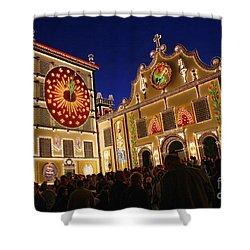 Santo Cristo Festivities Shower Curtain by Gaspar Avila