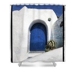 Santorini 1 Shower Curtain by Mauro Celotti