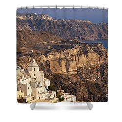 Santorini Shower Curtain by Brian Jannsen