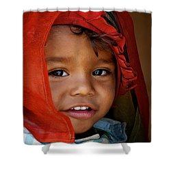 Sarangkot Baabu Shower Curtain by Valerie Rosen