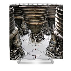 Saturn Five Shower Curtain by David Lee Thompson