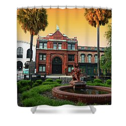 Shower Curtain featuring the photograph Savannah Cotton Exchange by Paul Mashburn