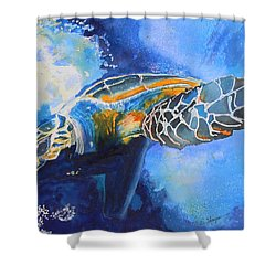 Save The Turtles Shower Curtain by Warren Thompson