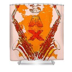 Sax Shower Curtain by David G Paul