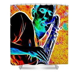 Sax Shower Curtain by Stephen Younts