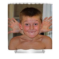 Shower Curtain featuring the photograph Say What by Patrick Witz