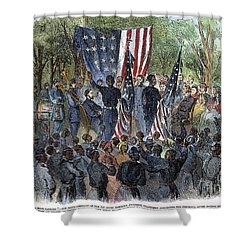Sc: Emancipation, 1863 Shower Curtain by Granger