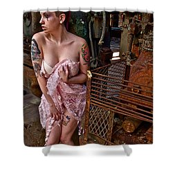 Shower Curtain featuring the photograph Scared by Alice Gipson