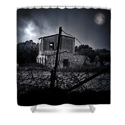 Scary House Shower Curtain by Stelios Kleanthous