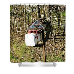 Shower Curtain featuring the photograph Scary Mailbox 3 by Sherman Perry