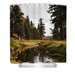 Scenic River, Northumberland, England Shower Curtain by John Short