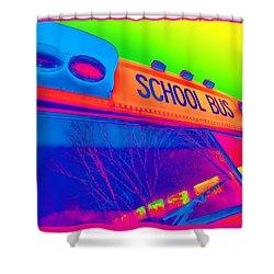 School Bus Shower Curtain by Gordon Dean II