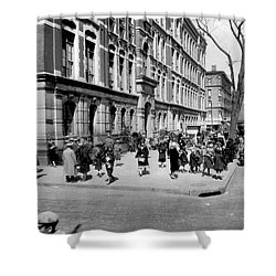 School's Out In Harlem Shower Curtain by Underwood Archives