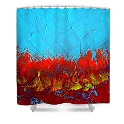 Scorched Shower Curtain by Holly Anderson