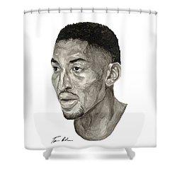 Scottie Pippen Shower Curtain by Tamir Barkan