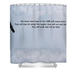 Scripture And Picture Isaiah 40 31 Shower Curtain by Ken Smith