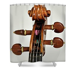 Shower Curtain featuring the photograph Scroll Front by Endre Balogh