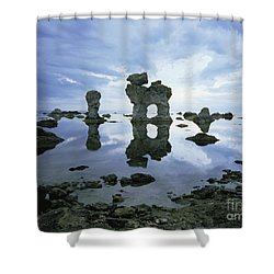 Sea Arch Shower Curtain by Bjorn Svensson and Photo Researchers